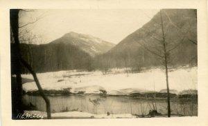 NH - Crawford Notch,  Winter of 1931. Saco River (5.75 X 3.75)