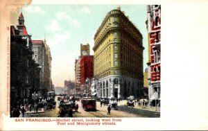 California San Francisco Marlet Street Looking West From Post and Montgomery ...