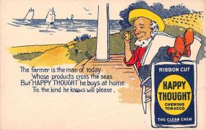 Happy Thought Chewing Tobacco Advertising Antique Postcard J2531222