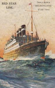 Ocean Liner Red Star Line Triple-screw BELGENLAND, 27,200 Tons , 00-10s