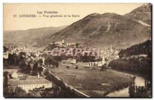 Old Postcard Lourdes Vue Generale and the Gave