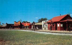 OK, Oklahoma City FRONTIER CITY Street Scene Route 66~Roadside  c1950's Postcard