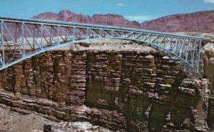 Marble Canyon, Arizona, AZ, Navajo Bridge, Chrome Vintage Postcard g5740