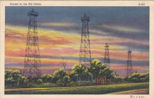 Sunset In The Oil Fields 1940