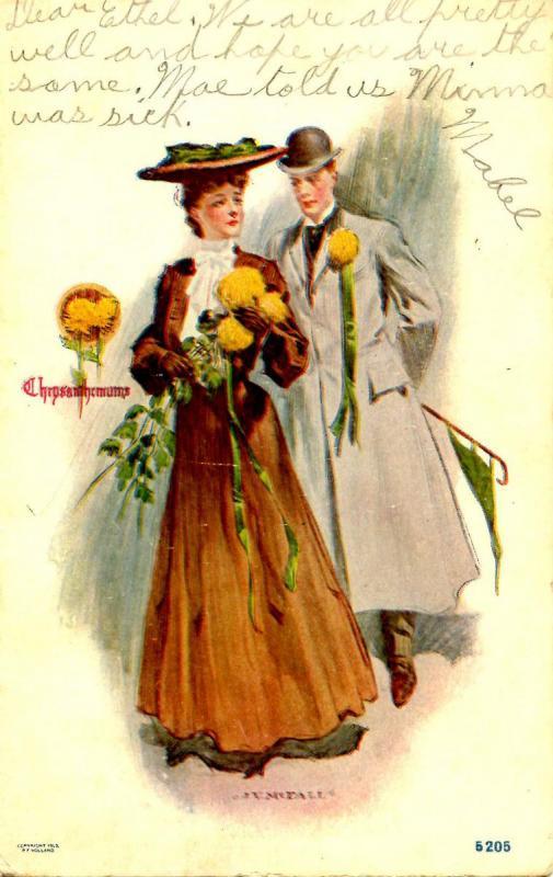 Chrysanthemums - Artist Signed: J V McFall