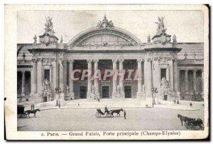 Old Postcard Paris Grand Palais Main door