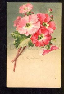 051788 PINK FLOWERS Bouquet by C. KLEIN vintage PC