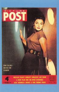 Nostalgia Postcard British Actress Joan Collins 1954 Reproduction Card NS11