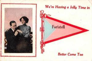 Foristell Greetings Romance Pennant Vintage Postcard JC932358