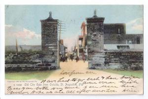 St Augustine FL Old City Gate UDB Rotograph 1904