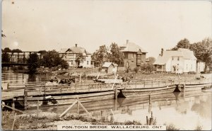 Pon Toon Bridge Wallaceburg ON Ontario Horses Wagons Unused RPPC Postcard F71