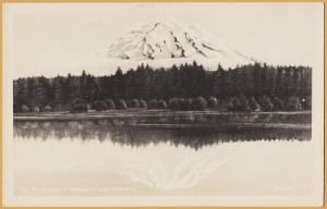 Mount Rainier Mirrored in Lake Spanway - Photolike by Johnston