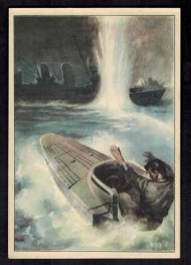 Mint Italy Socialist Republic postcard WW 2 Navy Attack Boat at Sea