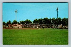 Battle Creek MI, View Of Bailey Park Baseball Diamond, Michigan Chrome Postcard