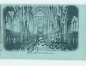 Pre-1907 YORK MINSTER CHOIR York - Yorkshire England Uk hJ6544