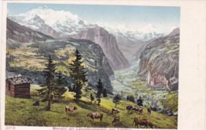 Switzerland Wengen mit Lauterbrunnental und Jungfrau