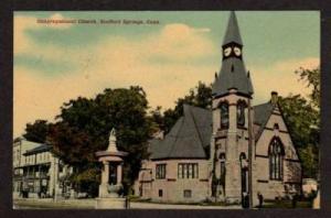 CT Congregational Church STAFFORD SPRINGS CONN Postcard Connecticut