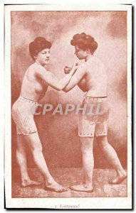 Old Postcard naked women erotic Luteuses