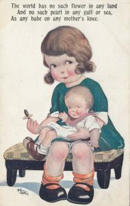 COMIQUE Series 4193; AS; 1900-10s; Babe on mother's knee