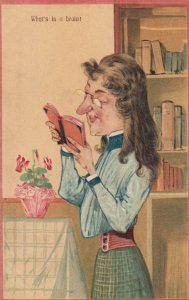 What's in a brain!, Older woman reading a book, 1900-10s