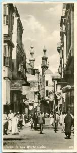 Egypt - Cairo, Street Scene in the Old World  *RPPC