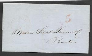 1850 Folded Letter from Seagram concerning Casks & Kegs