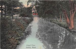 26240 MA, Natick, Canal view trees alongside