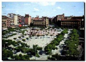 Postcard Modern Pamplona Plaza del Castillo y Avda