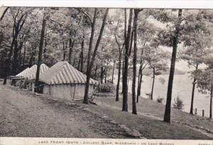Wisconsin Lake Geneva Lake Front Tents College Camp 1944