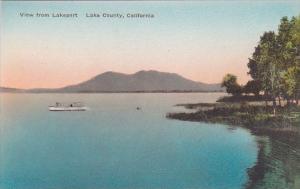 California Lake County View Form Lakeport Handcolored Albertype