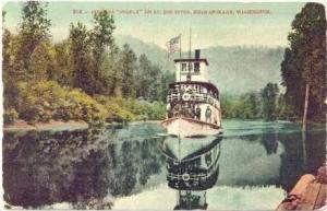 Steamer  COLFAX  on St Joe River, Near SPOKANE, Washington, PU-1912