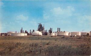 Oil Refinery In The West Postcard 1950s