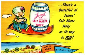 16752 NJ Atlantic City 1960's  Salt Water Taffy, James Co.