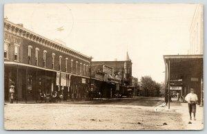 Barry IL~Main Street~Davis Hardware~Cigars~Callaway~Butterick Patterns~1910 RPPC