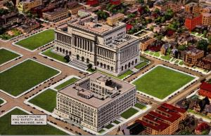 Wisconsin Milwaukee Court House and Safety Building Curteich