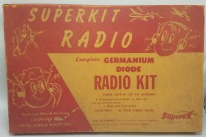 1957 Superkit Loopstick Long Range Germanium Diode Radio Model Kit