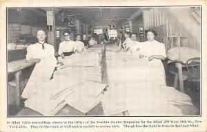 New York NY Matilda Ziegler Magazine For The Blind Girls 1915 Postcard