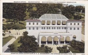 Maurice Springs & Baths, Main Entrance to Government Reservation, Hot Springs...