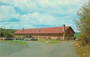 Davis West Virginia~Blackwater Falls State Park~Lodge~1950s Cars~Postcard