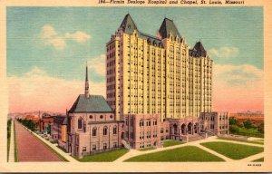 Missouri St Louis Firmin Desloge Hospital and Chapel Curteich