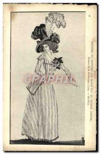 Old Postcard History of Costume Revolution Era