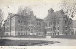 FREEPORT, Illinois, 1908; High School Building