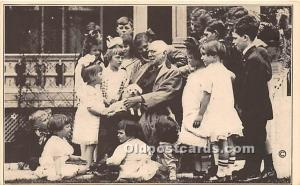 James Whitcomb Riley The Hoosier Poet with young friends, Greenfield, Indiana...