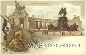 Berlin Germany, Deutschland Postcard National Denkmal  National Denkmal