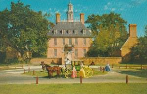 Virginia Williamsburg Governor's Palace With Eighteenth Century Carriage...
