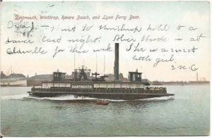 Ferry Boat, The Dartmouth, as it crosses Dartmouth, Winthrop and Revere Beach