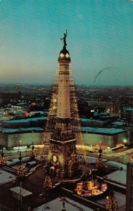 INDIANAPOLIS, IN, 1963; Soldiers & Sailors Monument turned into Christmas Tree