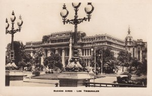 Buenos Aires Tribunales Argentina Vintage Mint RPC Postcard