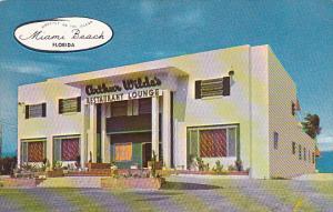 Florida Miami Beach Arthur Wilde's Restaurant and Lounge 1954
