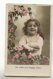 Real Photo, Tinted, Little Girl, Happy Days, F Alexander CA Series